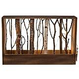 Naturfarbener Holz-Deko-Rahmen mit Ästen & 12 warmweißen LED Lichter