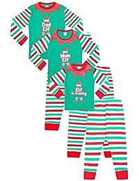 Elf Pyjamas Christmas Family PJs - Dad Elf, Mum Elf, Elf in Training