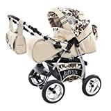 Kinderwagen King Cream & Chocolate Flowerpower