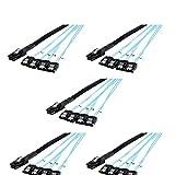 CableCreation Kabel, Mini SAS, 36 Pin-Stecker (SFF-8087), zu 4 SATA 7 Pin-Buchsen, Mini SAS Host/Controller zu 4SATA Target/Backplane, Länge 0,5 m, 5 Stück