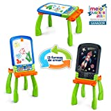 VTech DigiART - Caballete PequeARTista 3 en 1, pizarra electrónica interactiva que se transforma en tres juguetes, caballete mágico, pizarra con tiza y mesa de dibujo (3480-193522)