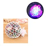 Delaman Stress Balls Squeeze Squishy Mesh Ball, Multicolor, Anti Stress Fun Play Toy for Adults and Children
