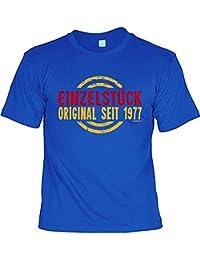 lustiges T-Shirt 40 Jahre Geschenk zum 40 Geburtstag - Einzelstück seit 1977 für Männer : )