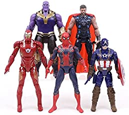 Delite Infinity War Attax - Pack Of 5 (Thanos Vs Avengers Action Toy Figures )