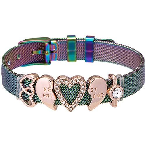 Imagen de ghjdsfog pulsera best friend set charm mesh bracelets with stainless steel fine bracelets bangle for women friend women fashion allergy free, elegant box