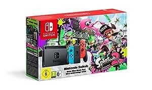 Console Nintendo Switch avec Joy-Con - rouge néon/bleu néon + Splatoon 2