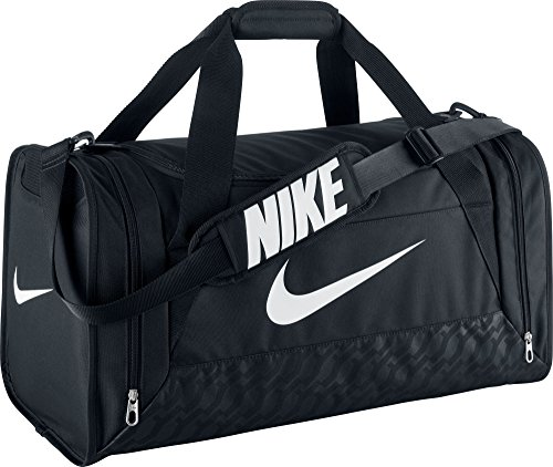 Nike unisex-adult Brasilia 6 Duffel Bag Duffel Bag, Multicolored (Negro / Blanco), One Size