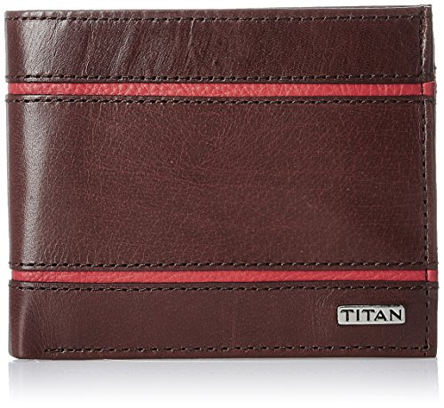 Titan Brown Leather Men's Wallet - TW160LM1DB  available at amazon for Rs.1260