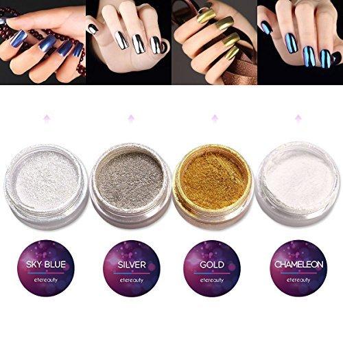 Etereauty glitter per unghie unghie polveri cromato (unghie polveri specchio)