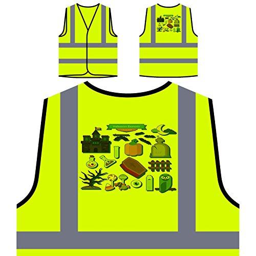 ersonalisierte High Visibility Gelbe Sicherheitsjacke Weste q840v ()