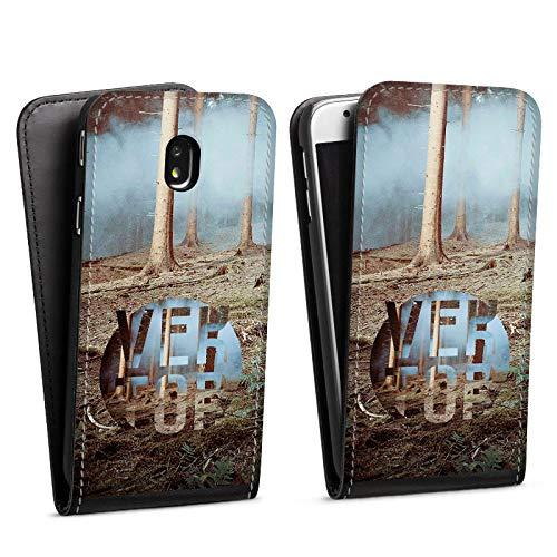 DeinDesign Flip Case kompatibel mit Samsung Galaxy J7 Duos 2017 Tasche Hülle Baeume Forest Wald