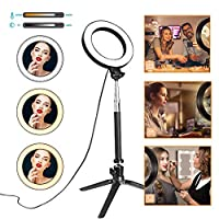 LED Ring Light, Bebester 3 In 1 Beauty Fill Light Photography Ring Light 1/4 Thread With Stand 5500K Dimmable Fill Lighting Kit For Selfie, Makeup, Live Stream, Youtube, Vlog, Phone Video Shooting