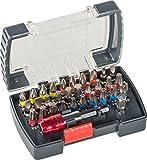 kwb Power Bit-Box - 32-tlg inkl. Bits, Schnellwechsel-Bithalter mit Magnet in stabiler Kunststoff-Box