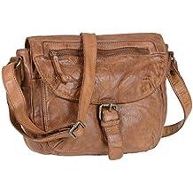 bc8039d5cae2f Bear Design Handtasche Damen Tasche Leder Schultertasche Cow Lavato cognac