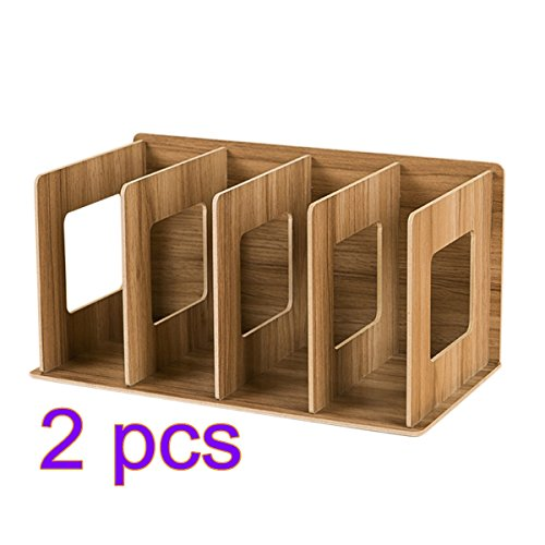 Single Bücherregal (CD Ständer, CT-Tribe 2 Stück CD DVD Ständer Regal CD Storage Shelves Bücherregal Klein (Single 30.5×15×17cm) - Cherry Wood Color)