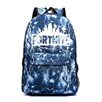 Fortnite backpack students School bag lightning blue