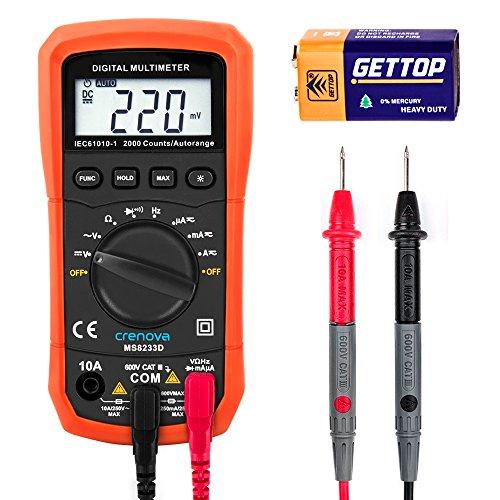 Crenova MS8233D, Multimetro digitale, per il range...
