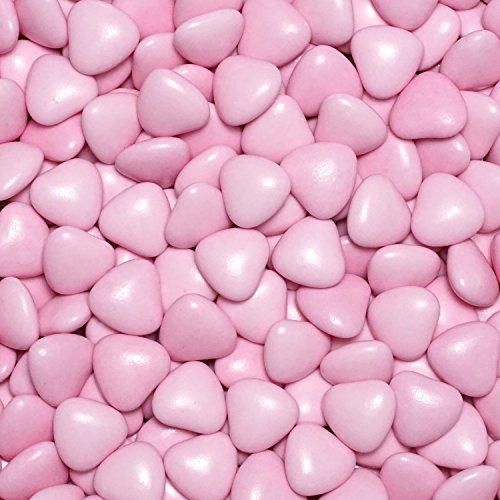 Schokoherzen 500g - rosa