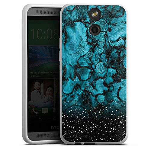 DeinDesign HTC One E8 Silikon Hülle Case Schutzhülle Weltall Weltraum Muster