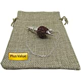Plusvalue Rudraksha Dowsing Pendulum for Vastu & Reiki Experts Dowsing Master + Free Jute Bag Small