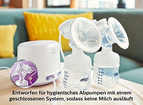 Philips Avent SCF334/31 Elektrische Komfort Doppelmilchpumpe, weiß - 7