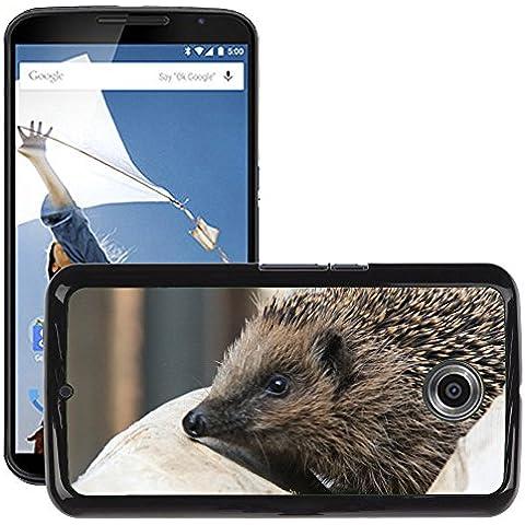 GoGoMobile Carcasa Funda Prima Delgada SLIM Casa Case Bandera Cover Shell para // M00125186 Spur Riccio animali a punta // LG Google Nexus 6