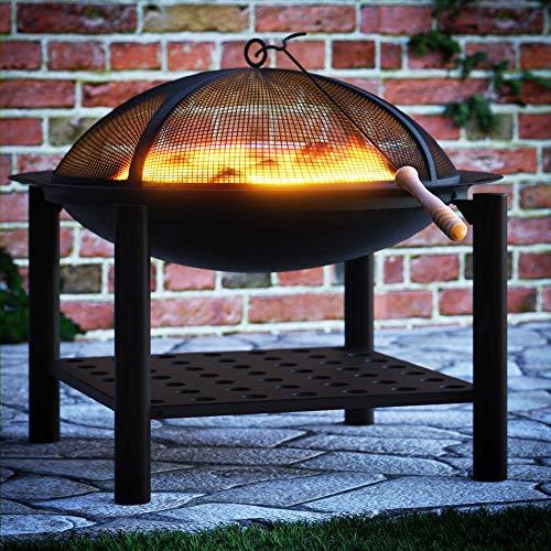 Feuerstelle 50×50 rund – Feuerkorb Feuerschale Grillfeuer Lagerfeuer - 5