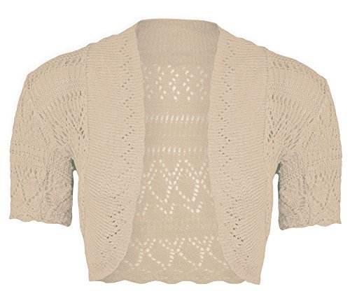 New Girls Kids Short Sleeve Crochet Knitted Bolero Shrug Ladie Cardigan Crop Top pierre