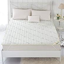 Colchón cómodo colchón Funda de colchón antideslizante Lavable a máquina, estera delgada y suave Reina