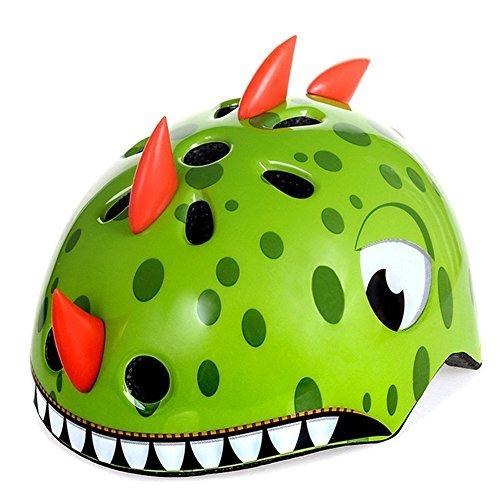 Peino Kinder Fahrradhelme, Cartoon Tier Helm Skate Outdoor Helm Roller Skid Helm (Dinosaurier)