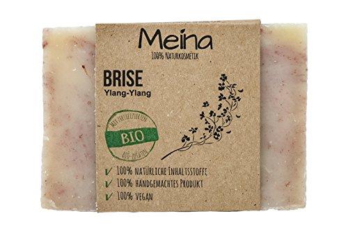 Meina Naturkosmetik - Seife mit Ylang Ylang (1 x 110 g) 100% natürliche, vegane, handgemachte Bio Naturseife - Körperpflege und Gesichtspflege -