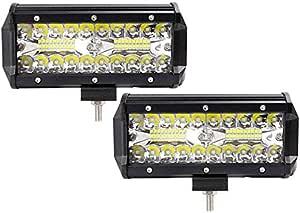 2x 120w Led Arbeitsscheinwerfer Off Road Scheinwerfer Bar Fernlicht 12v 24v Lampen Ip67 Wasserdicht Zusatzscheinwerfer Flutlicht Für Auto Traktor Auto