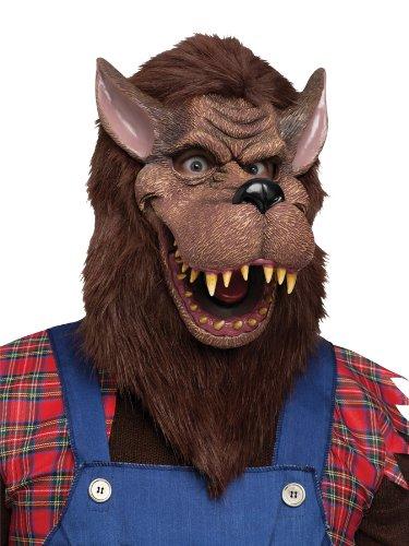 KULTFAKTOR GmbH Böse Wolf Halloween Maske braun Einheitsgröße (Maske Halloween Böse Wolf)