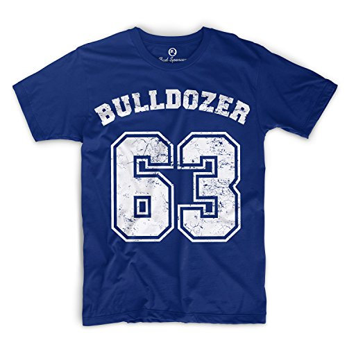 Bud Spencer - Bulldozer 63 - T-shirt blu royal L