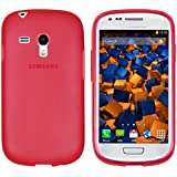 mumbi TPU Schutzhülle Samsung Galaxy S3 mini Hülle transparent rot
