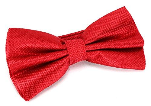 Männer Premium Fliege Herren Hochzeit Konfirmation Anzug Smoking Schleife Schlips verstellbar Rubin Rot