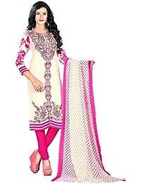 K Designer Women's Chiffon Unstitched Dress Material (Mehak9015_Multi-coloured_Freesize)