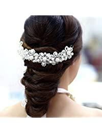Estilo de vida taymee novia boda accesorios para el pelo hairband pelo alternativa Tiara perlas cristales extensiones de novia de dama accesorios