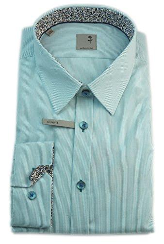 Seidensticker -  Camicia classiche  - A righe - Classico  - Uomo Turchese