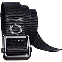 Yacn uomini cinturone tessuto di nylon tattico per Men1.57 '' ampia con fibbia nero militare (Nero) - Web Cinghia Della Pistola