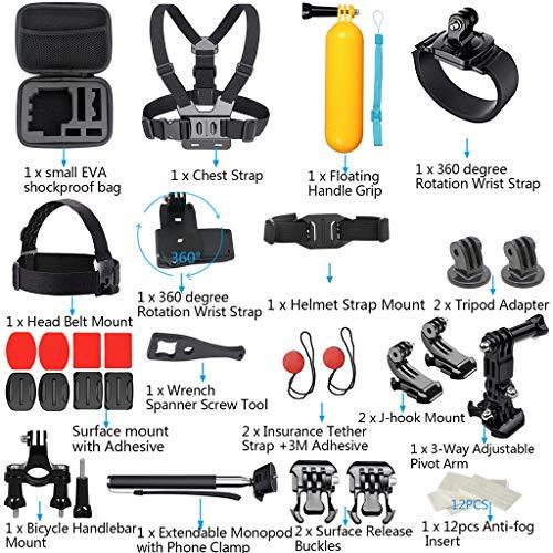 HKFV Für DJI OSMO Action Für GoPro7 Zubehör Kamera Outdoor Sports Set Kit 41-in-1 (Head Gear Rc)