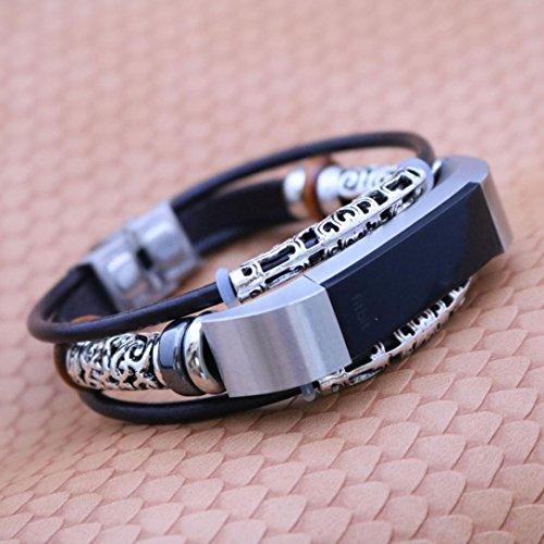 Preisvergleich Produktbild gaddrt Ersatz-Lederarmband Armband Armband für Fitbit Alta / Fitbit Alta HR (B)