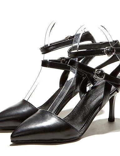 WSS 2016 Chaussures Femme-Bureau & Travail / Habillé-Noir / Bleu / Blanc-Talon Aiguille-Talons / D'Orsay & Deux Pièces / Bout Pointu-Talons- white-us6.5-7 / eu37 / uk4.5-5 / cn37