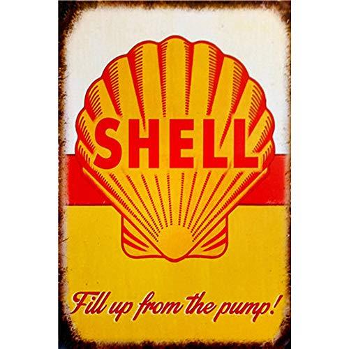 Easy Painter Shell Oil Vintage Metallschild, Benzin Can Old Style Garage Bar, Man Cave, Blechschilder, lustig, Retro Deko-Schilder, Motoröl, -