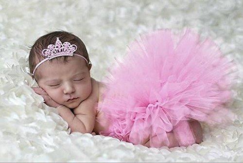 HugeStore Baby Säugling Neugeborenes Tutu Kleidung Kostüm Foto Prop Outfits Bekleidung Set Rosa