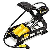 MEETLOCKS Bicycle Pump Double Pistons Bike Foot Pumps,160PSI Aluminum Body with Accurate Pressure