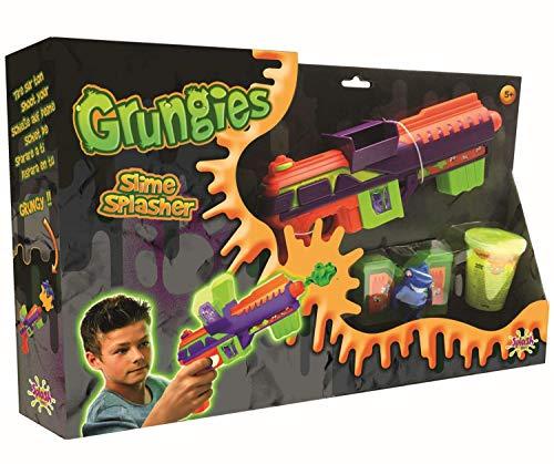 Splash Toys 56017i Grungies Slime Splasher, Schleimpistole inklusive gelbem Slime und Monsterfigur als Ziel für Schleimschüsse, bunt