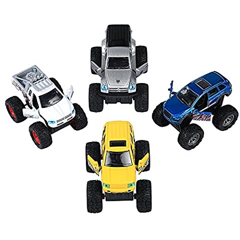 4 Pieces Pull Back and Go Car Model Off Road