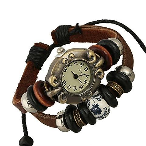 LZHM Personalisierte Justierbare Armbänder Für Unisex Stulpe-Armband Stammes-geflochtenes Seil Wulstige Uhr