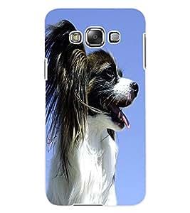 ColourCraft Cute Dog Design Back Case Cover for SAMSUNG GALAXY E7